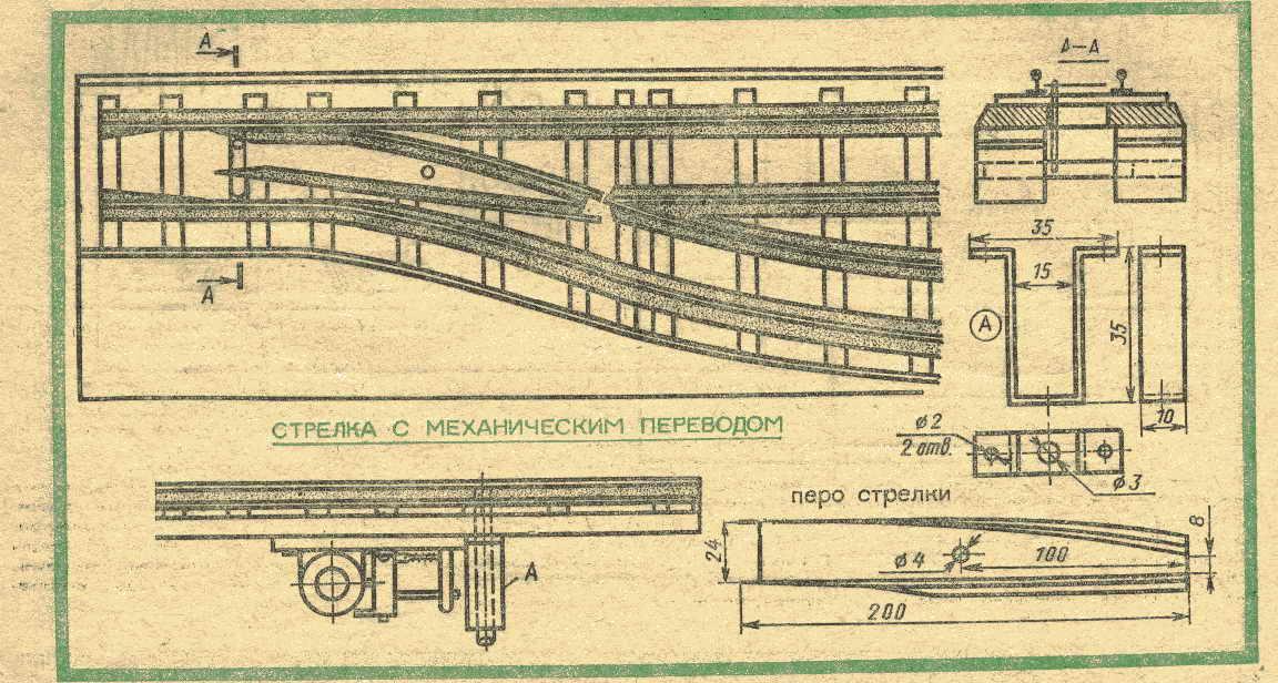 Стрелки жд-модель